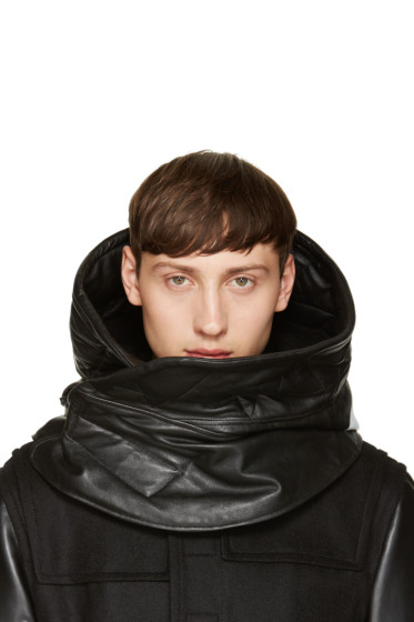 NILøS - Black Sheepskin Hooded Stole