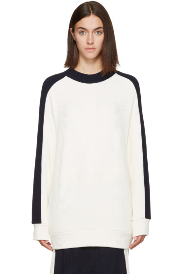Atea Oceanie - Ivory Ribbed Pullover