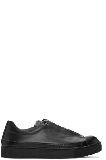 Issey Miyake Men - Black Leather Sneakers