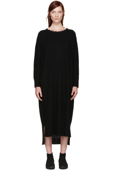 Y's - Black Fringed Collar Dress