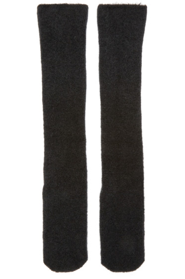 Isabel Benenato - Black Knit Merino Socks