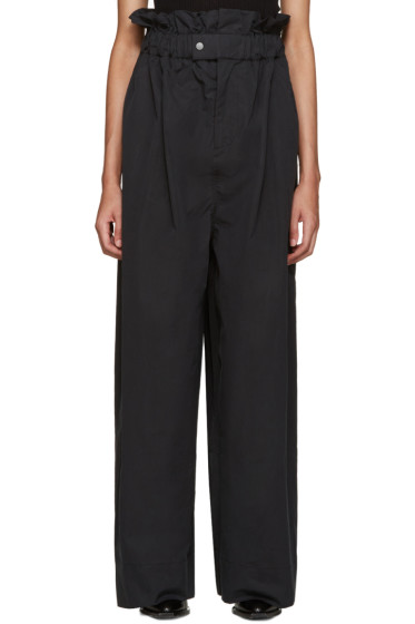 Craig Green - Black Wide-Leg Pleated Trousers