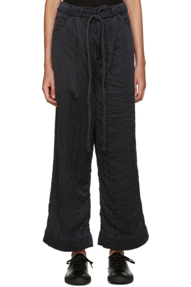 Craig Green - Black Silk Wide-Leg Trousers
