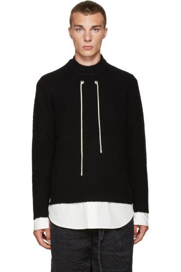 Craig Green - Black Bouclé Sweater