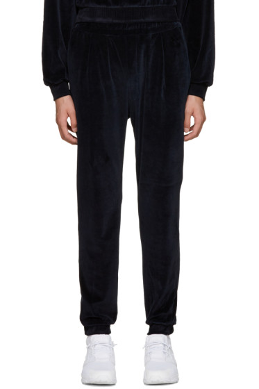 Sunnei - Navy Velour Lounge Pants