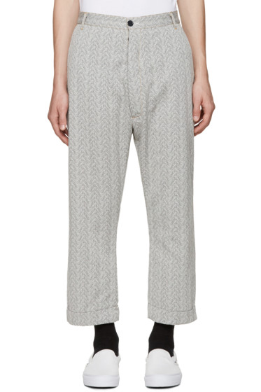 Sunnei - Black & White Trousers