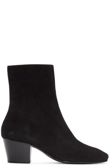 Dorateymur - Black Suede Droop Nose Boots