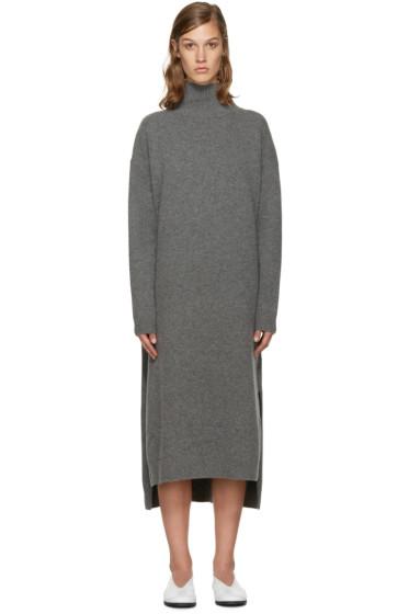 Enfold - Grey Wool Turtleneck Dress