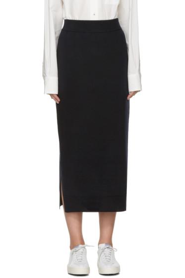 Enfold - Navy Wool Skirt