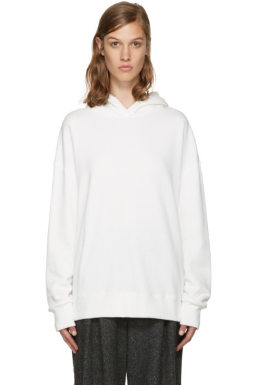 Enfold - White Fleece Hoodie
