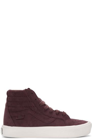 Vans - Burgundy Nubuck Sk8-Hi Reissue Lite LX Sneakers