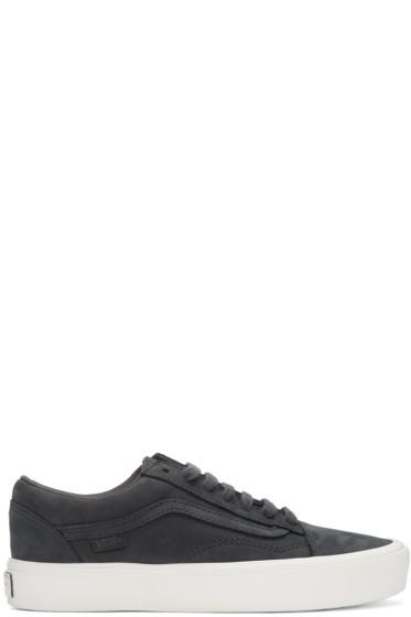 Vans - Navy Nubuck Old Skool Lite LX Sneakers