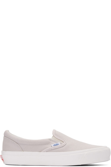 Vans - Grey OG Classic Slip-On Sneakers