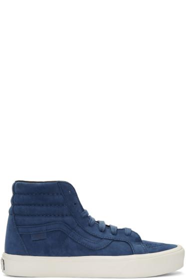 Vans - Blue Nubuck Sk8-Hi Reissue Lite LX Sneakers