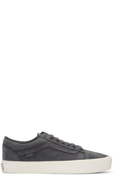 Vans - Grey Nubuck Old Skool Lite LX Sneakers