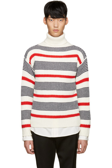 Tomorrowland - Tricolor Wool Striped Turtleneck