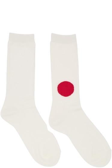 Blue Blue Japan - Off-White Japanese Flag Socks