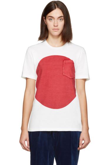 Blue Blue Japan - White & Red Flag T-Shirt