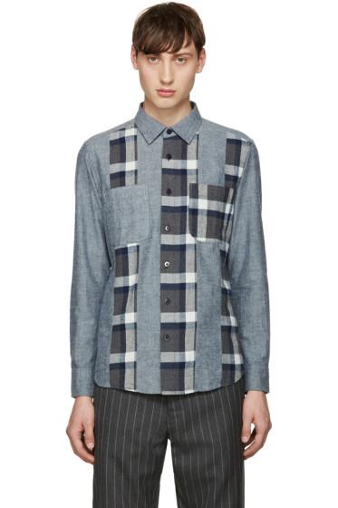Blue Blue Japan - Navy Flannel Cutover Shirt