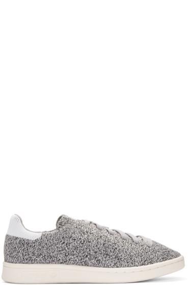 adidas Originals - Grey Primeknit Stan Smith Sneakers