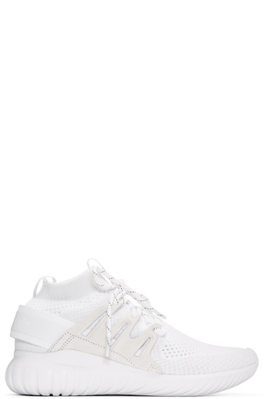 adidas Originals - White Tubular Nova Primeknit Sneakers