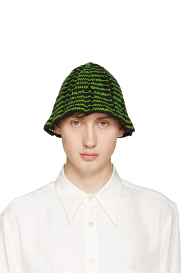 Wales Bonner - Green Crochet Syms Hat