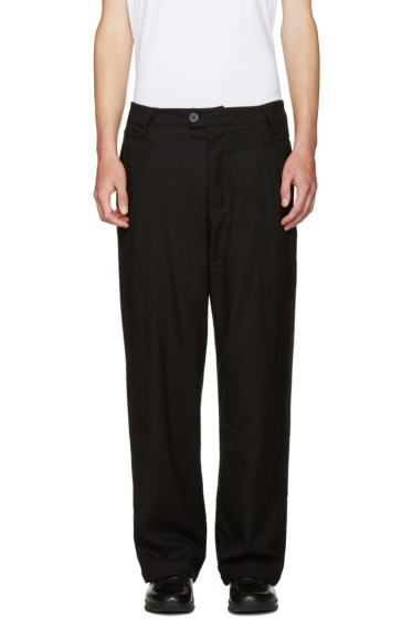Telfar - Black Double Jersey Trousers