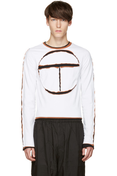 Telfar - White Cut-Out Logo T-Shirt