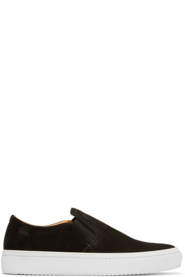 No.288 - Black Nubuck Houston Slip-On Sneakers
