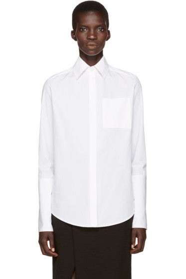 Protagonist - White Oversized Cuff Shirt
