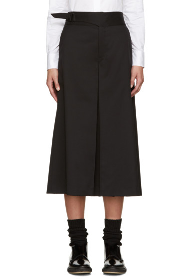 Hyke - Black Wool Culottes