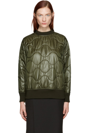 Hyke - Green Quilted Nylon Pullover