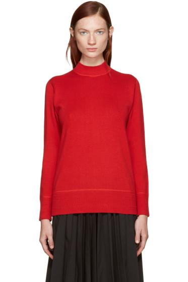 Hyke - Red Mock Neck Sweater