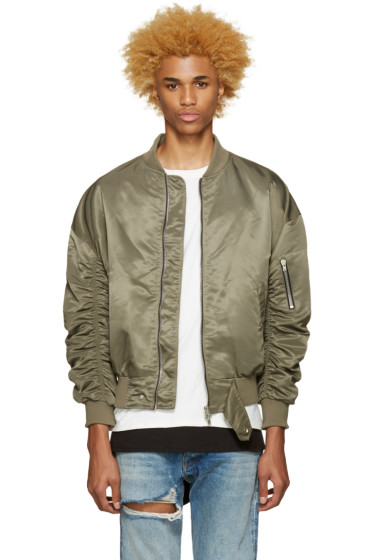 Fear of God - SSENSE Exclusive Green 4th Collection Bomber Jacket