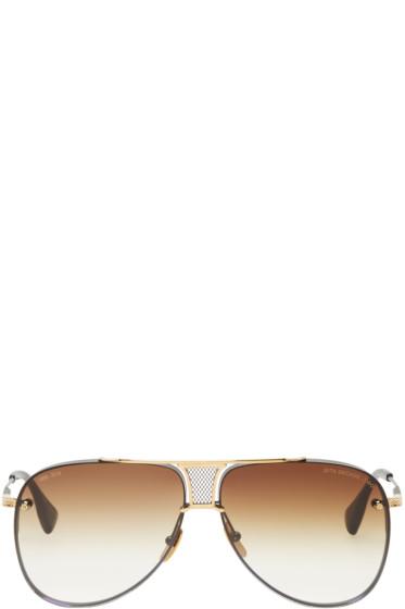 Dita - Black & Gold Decade-Two Aviator Sunglasses