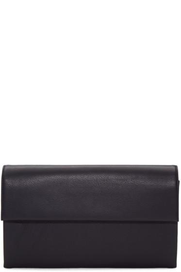 Tsatsas - Black Leather Haze Clutch
