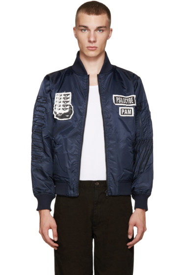 Perks and Mini - Navy Psilocybe Bomber Jacket