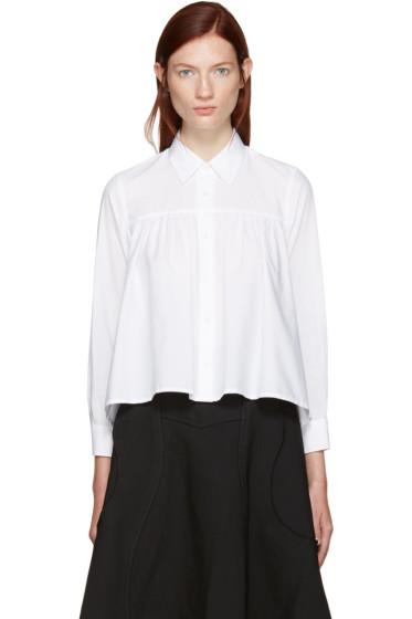 Tricot Comme des Garçons - White Pleated Shirt