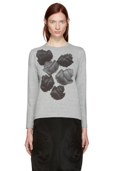 Tricot Comme des Garçons - Grey Flower T-Shirt