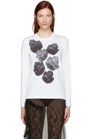 Tricot Comme des Garçons - White Flower T-Shirt
