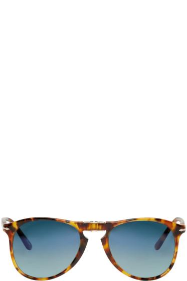 Persol - Tortoiseshell Folding Pilot Sunglasses
