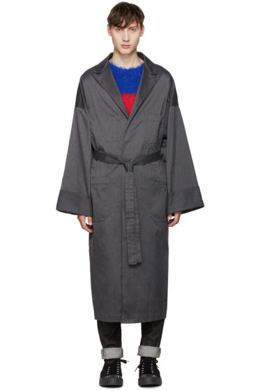 ganryu - Grey Oversized Coat