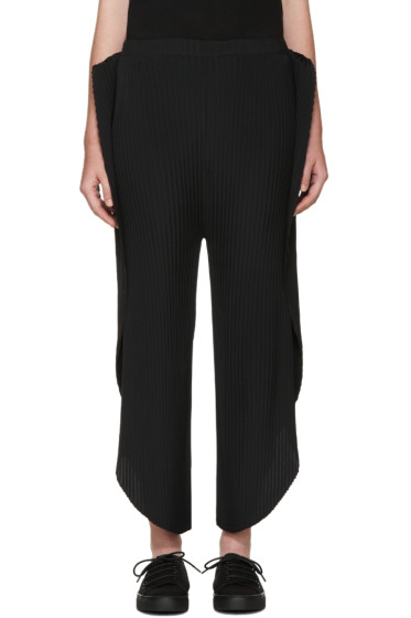 Issey Miyake - Black Pleated Solid Earth Lounge Pants