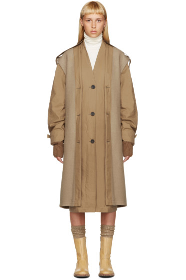Nehera - Tan Layered Trench Coat