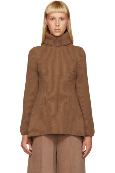 Nehera - Tan Merino Wool Turtleneck