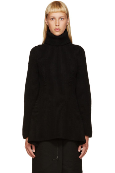 Nehera - Black Merino Wool Turtleneck
