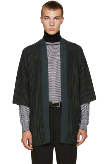 Curieux - Green Patchwork Noragi Cardigan
