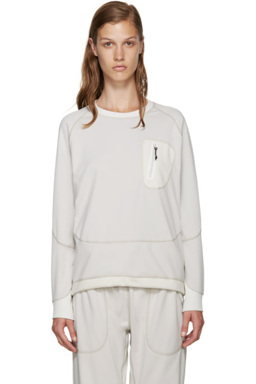 and Wander - Off-White Zip Pocket Pullover