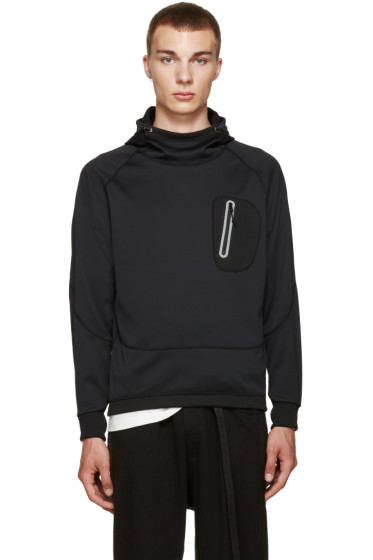 and Wander - Black Zip Pocket Hoodie