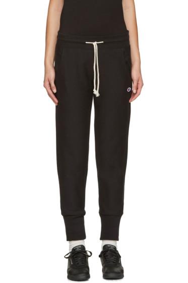 Champion Reverse Weave - Black Small Logo Lounge Pants